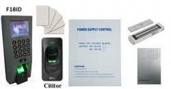 Control acces complet bidirectional cu amprenta digitala si card F18pack